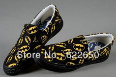 Women's Batman Printed Rubber Sneakers Casual Canvas Shoes Fashion Low Top Sneaker Drop shipping US $26.50 - 27.50