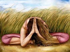 Namaste yoga meditation decor art print by claudiatremblay