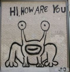 Austin street art on pinterest murals graffiti and for Daniel johnston mural