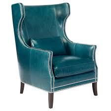 Image result for wingback chairs peacock blue