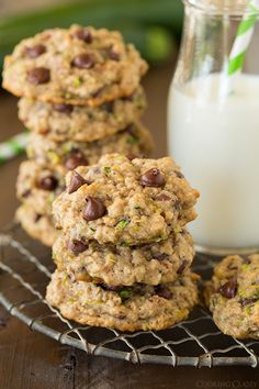 Zucchini-Oat Chocolate Chip Cookies - Cooking Classy