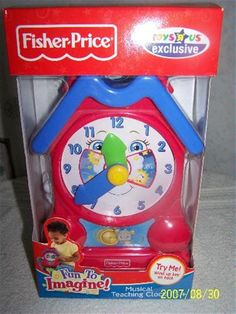 musical clock by fisher price - Bing Bing Video, Fisher Price, Arcade Games, My Childhood, Musicals, Lunch Box, Teaching, Arrows, Charms