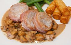 Varkenshaas medaillons met champignonroomsaus - Keuken♥Liefde