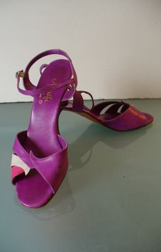 Vintage Made in Italy Amalfi Rangoni Plum Leather Sandals Size 9.5 N by EurotrashItaly on Etsy