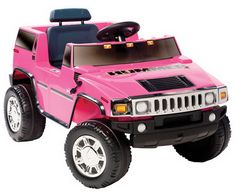 New Girls Pink Ride On Hummer Electric 6V SUV Toy Motorized Barbie Kids Car H2