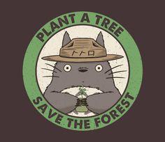 Plant a Tree | My Neighbor Totoro | Smokey the Bear | TeeFury
