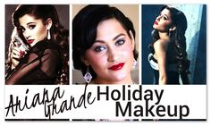 Ariana Grande Inspired Holiday Makeup Tutorial is up! Classic & Vintage look I re-created using mostly drugstore products! =D