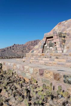 The memorial pyramid at Pucará de Tilcara, Northwest Argentina | heneedsfood.com