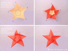 Origami stars.