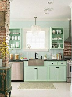 Interior Fabulous Pastel Home Design Inspired By The Cakes Theme Cute Kitchen With