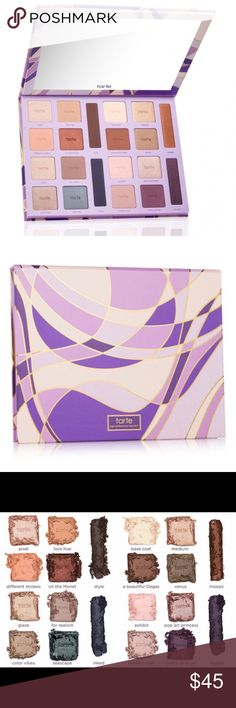 Tarte Color Vibes Clay Eyeshadow Palette Brand new Tarte Color Vibes Palette. Limited Edition from the 2016 Holiday Collection. Has never been use, box will be included with purchase. AUTHENTIC - see last image for receipt of purchase. Bought from the Tarte website. tarte Makeup Eyeshadow