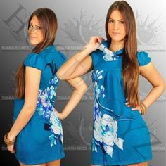 Smashed Lemon  Kleid Blau