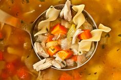 Easy Chicken Noodle Soup from a Leftover Roasted Chicken - Made this tonight and I will be making it again! Yummy!