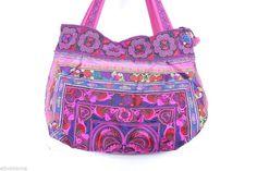 Handbag Pink birds TOTE Bag Garden Hill Tribe Thailand Fair Trade Handmade  #Handmade #TotesShoppers