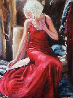 """Grace Shaw """"Shelter"""" 24x18 Original art"""