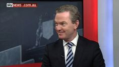 Comical: Education Minister Christopher Pyne during Monday afternoon's interview #auspol