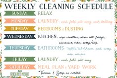 Weekly Cleaning Schedule Printable Check Lists Cleanses New Ideas Cleaning Quotes, Cleaning Day, Diy Cleaning Products, Spring Cleaning, Cleaning Hacks, Daily Cleaning, Weekly Cleaning Schedule Printable, Cleaning Schedule Templates, Cleaning Checklist