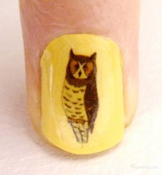 Owl in my nail. #3