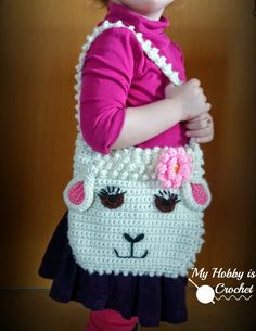 My Hobby Is Crochet: Darling Sheep Crochet Purse for Little Girls | Free Pattern | My Hobby is Crochet