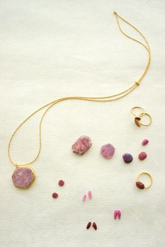 gold jewelry with rubies-Jurgen Lehl
