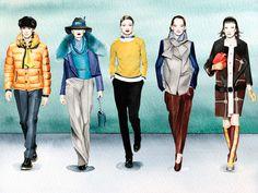 Fashion Illustration - Alexandra Compain-Tissier  - monstylepin #fashion #illustration