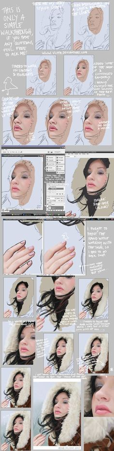 Very large file! A little walkthrough, I wouldn& call it tutorial but this is just for you to see how I work. I hope it& a little fun to see. Here& the finished one: Digital Painting Tutorials, Digital Art Tutorial, Painting Tips, Art Tutorials, Drawing Now, Drawing People, Girl Pose, Character Design Tutorial, Devian Art