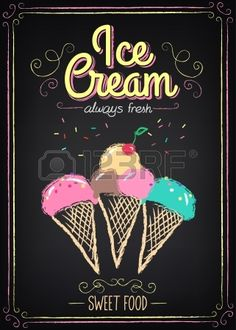 Vector Vintage Illustration With Chalkboard Menu Design Royalty Free .Vintage Illustration With Chalkboard Menu Design Royalty Free . Ice Cream Menu, Ice Cream Sign, Ice Cream Poster, Ice Cream Parlor, Best Ice Cream, Ice Cream Maker, Chalkboard Designs, Chalkboard Art, Gelato