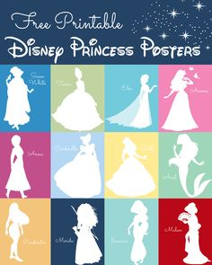 Adorable Free Disney Princess Poster & Silhouete Printables!