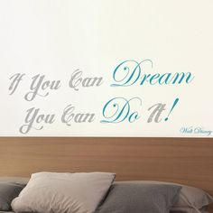 wallsticker - Walt Disney - If you can dream you can do it! Dekoidea