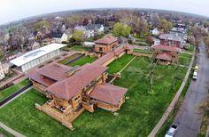 Frank Lloyd Wright, Darwin Martin House Aerial Photos