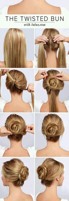 Bun – 16 Gorgeous Hair Styles for Lazy like Me … → Hair - Hair Styles Easy Bun Hairstyles, Pretty Hairstyles, Hairstyles 2018, Everyday Hairstyles, Latest Hairstyles, Office Hairstyles, Night Hairstyles, Romantic Hairstyles, Fashion Hairstyles