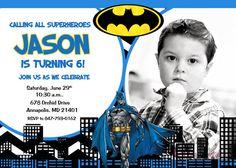 Batman Superhero Birthday Party Invitation  by PrettyPaperPixels