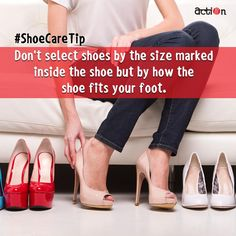 #ShoeCareTip: Wearing shoes that fit you will prevent foot pain. Doesn't matter what the size it is!  #Action