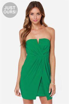 LULUS Exclusive Kauai Cutie Strapless Green Dress at Lulus.com!