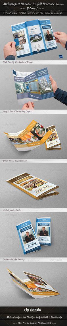 Multipurpose Business Tri-Fold Brochure | Volume 1