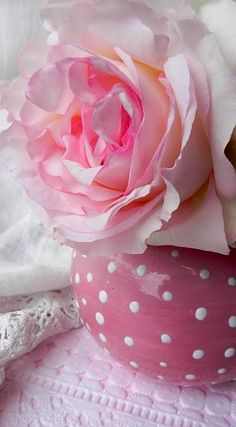 Two of my favourite things: Polka dots and Pink roses!! Mmm... Love it :)