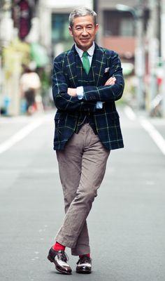 Haruo Suzuki Check Jacket