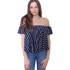Lisingtool Women's Off Shoulder Stripe Casual Blouse Shir... https://www.amazon.com/dp/B01H6EAYKI/ref=cm_sw_r_pi_dp_x_iq0AybSHWR5W1