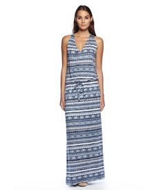 MICHAELSTARS.COM: Michael Stars Tribal Printed Racerback Maxi for $128.0 :: Faearch