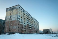 Gostinka, Abandoned House in Norilsk.     Siberia, Russia    ----------                             A city in the arctic dessert. A city without a single tree. A polar oasis.