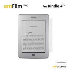 amFilm (TM) Premium Screen Protector Film Matte Clear (Anti-Glare)for Kindle (4th Generation) and Kindle Touch (2-Pack)