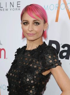 Nicole Richie's Hair Is Pink. Is brown or blond just too boring? These colors must be wrecking her hair.