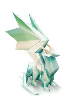 Crystal Dragon Papercraft (Statue)