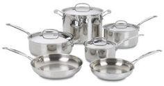 Amazon.com: Cuisinart 77-10 Chef's Classic Stainless Steel 10-Piece Cookware Set: Home & Kitchen