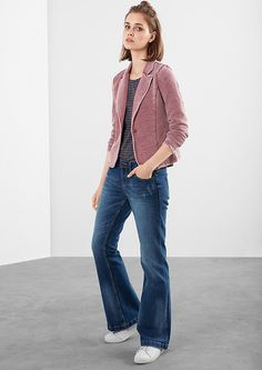 Sweat-Blazer in Garment Dye