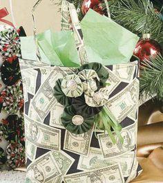 Yo-Yo Embellished Gift Bag