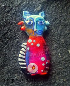 jasmin french ' MERLIN ' lampwork focal glass art bead