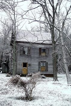 When I see an old abandoned farm house, I think always wonder who used to live there...was it a family, how many children, what did it look like inside