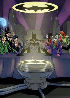 "Gotham's Last Supper | Community Post: 55 Pop Culture Parodies Of ""The Last Supper"""