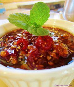 Fabulous Farm Living: Sticky Sweet Chilli and Tamarillo Jam Chilli Chutney Recipes, Chilli Jam, Sweet Chilli, Tomatillo Recipes, Fodmap Recipes, Paleo Recipes, Yummy Recipes, Man Food, Jam Recipes